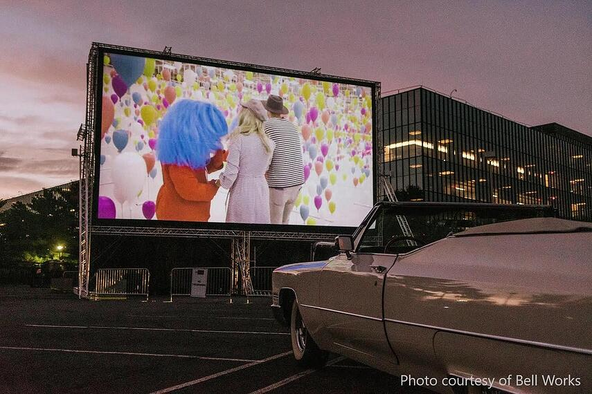 Bell Works drive in movie theater 2